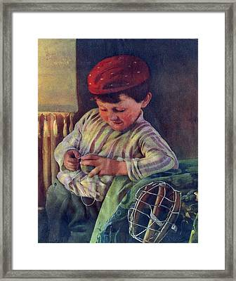 Captain Of The Team Framed Print by David  Hicks