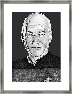Captain Picard Framed Print by Bill Richards
