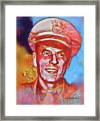 Captain Ronald Reagan Framed Print by Dean Gleisberg