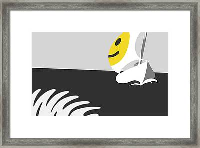 Captain Smiley Framed Print by Tom Dickson