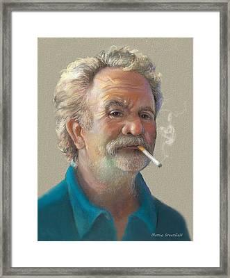 Captain Stavros Framed Print
