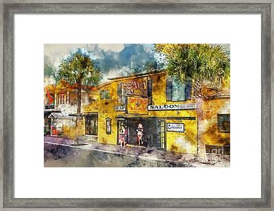 Captain Tony's Saloon Framed Print