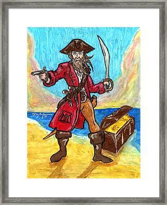Captain's Treasure Framed Print