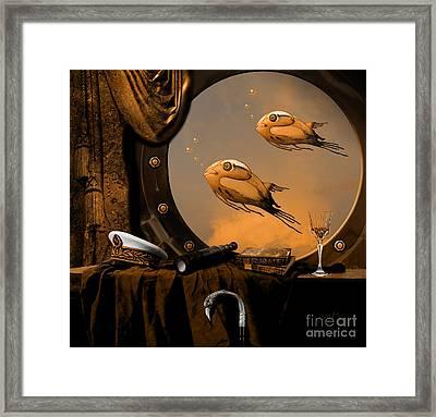 Framed Print featuring the digital art Captan Nemo's Room by Alexa Szlavics