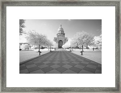Captiol Ir Framed Print by John Gusky
