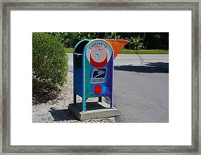 Framed Print featuring the photograph Captiva Island Mailbox- Horizontal by Michiale Schneider