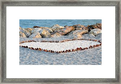 Captiva Love Framed Print