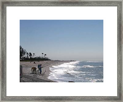 Captiva Surf Fishing Framed Print by Jack G  Brauer