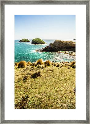 Captivating Coastal Cliff Framed Print
