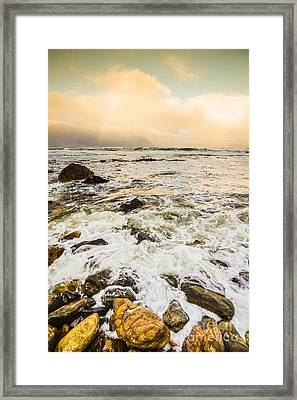 Captivating Coastal Sunrise Framed Print by Jorgo Photography - Wall Art Gallery