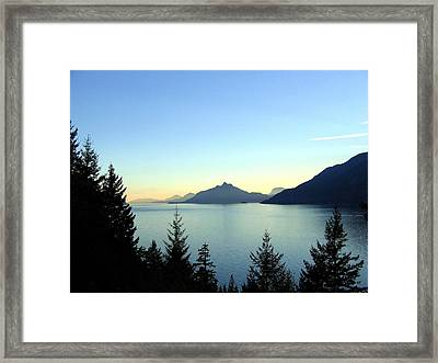Captivating Howe Sound Framed Print by Will Borden