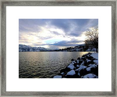 Captivating Okanagan Lake Framed Print by Will Borden