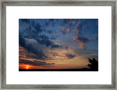 Captree Sunset Framed Print by Christopher Kirby