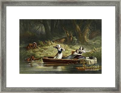 Capture Of The Daughters Of Daniel Boone And Richard Callaway By The Indians Framed Print by Karl Bodmer