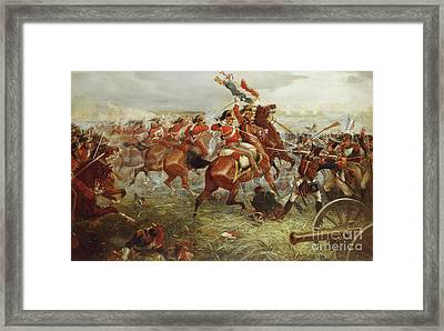 Capture Of The Eagle, Waterloo, 1898  Framed Print