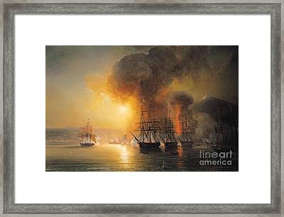 Capture Of The Fort Of Saint Jean Dulloa On 23rd November 1838 Framed Print by Jean Antoine Theodore Gudin