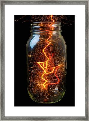 Captured Energy In A Jar Framed Print
