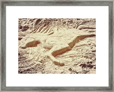Captured In The Sand Art Framed Print by JAMART Photography