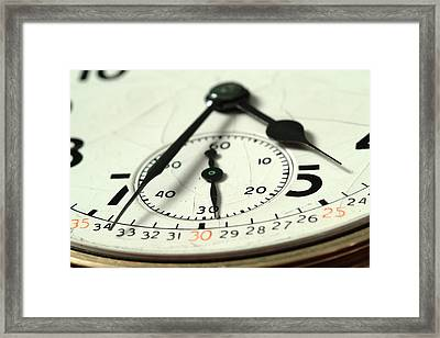 Captured Time Framed Print
