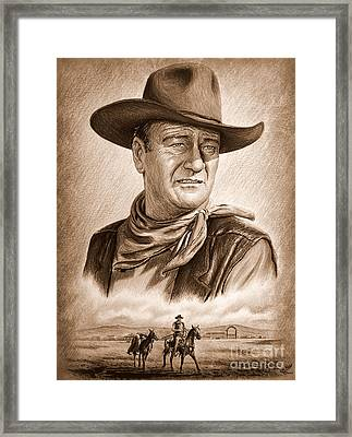 Captured  Ye Old Wild West Edit Framed Print by Andrew Read