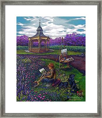 Capturing The Light Framed Print by Linda Simon