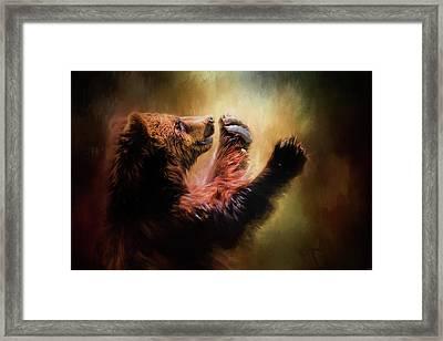 Capturing The Sun Bear Art Framed Print