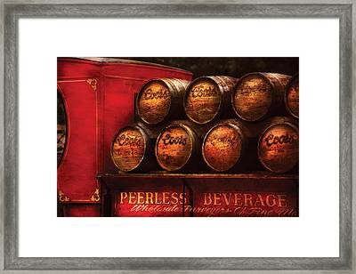 Car - Truck - Beer Truck Framed Print by Mike Savad