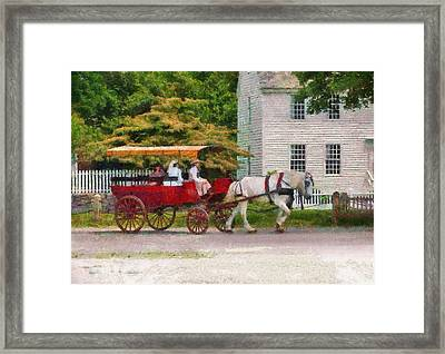 Car - Wagon - On Way To The Market  Framed Print by Mike Savad