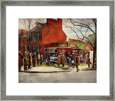 Car - Accident - Looking Out For Number One 1921 Framed Print by Mike Savad