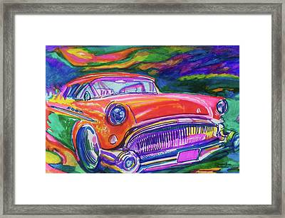 Car And Colorful Framed Print