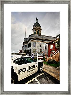 Car And Courthouse Framed Print by Greg Mimbs