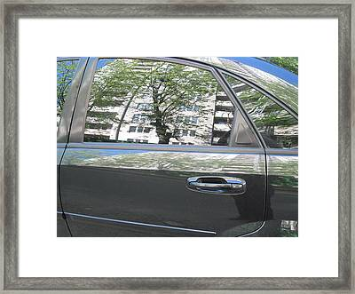 Car And Reflection Framed Print by Kostyantyn Serodkin