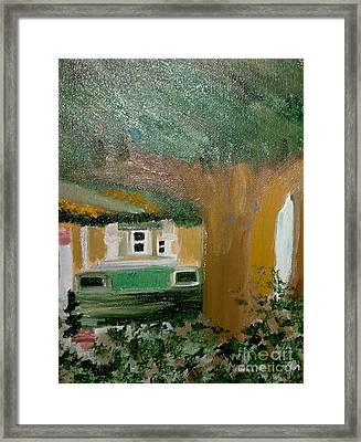 Car At Home Framed Print by Cindy  Riley