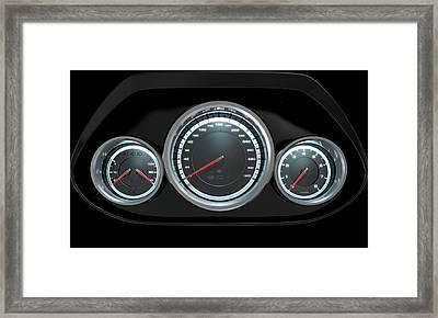 Car Dashboard Framed Print