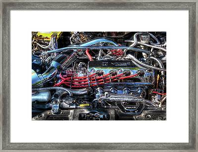 Car - Engine - Car Intestines Framed Print by Mike Savad