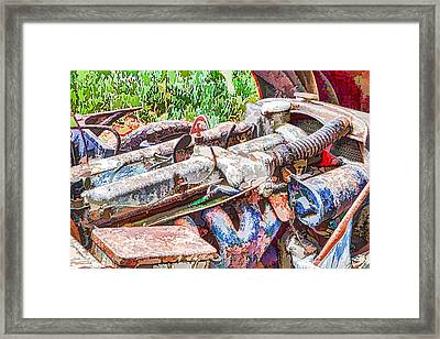 Car Engine Framed Print by Lanjee Chee