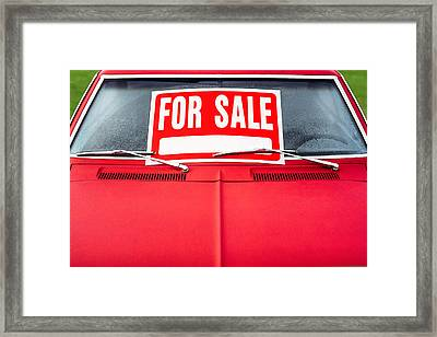 Car For Sale Framed Print by Todd Klassy