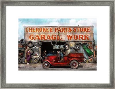 Car - Garage - Cherokee Parts Store - 1936 Framed Print