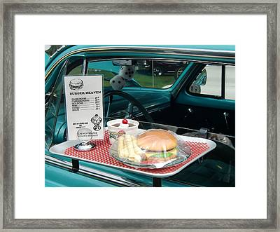 Car Hop Blues Framed Print by Richard Mansfield