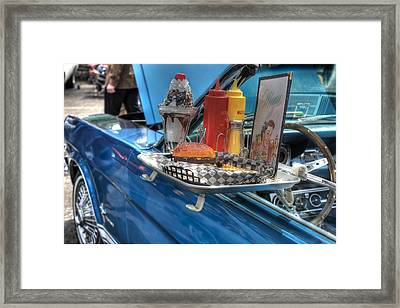 Car Hop Route 66 Framed Print by Jane Linders