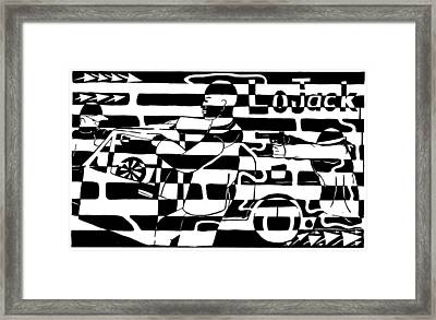 Car-jacking Maze For Lojack Advert Framed Print by Yonatan Frimer Maze Artist