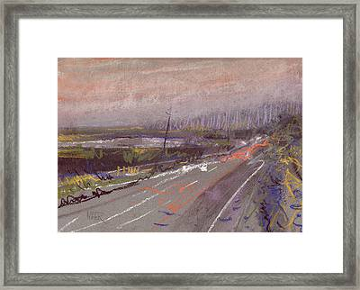 Car Lights And Rainy Nights Framed Print by Donald Maier