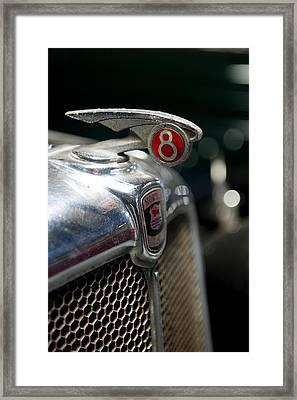 Car Mascot V Framed Print by Helen Northcott