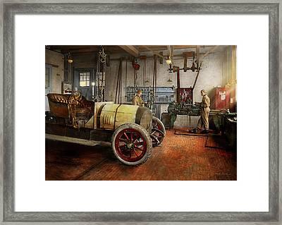Car Mechanic - The Overhaul 1915 Framed Print