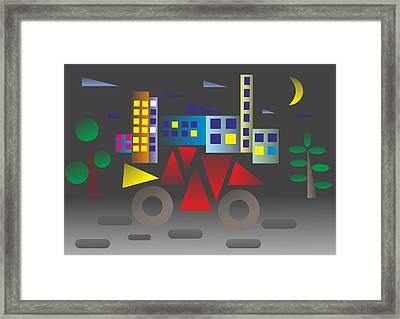 Car Night - My Www Vikinek-art.com Framed Print