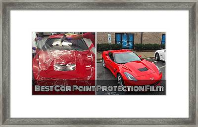 Car Paint Protection Film Installation In Raleigh Framed Print