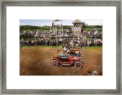 Car - Race - On The Edge Of Their Seats 1915 Framed Print