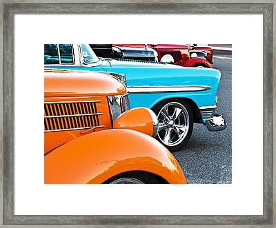 Car Show Beauties Framed Print by Marion McCristall