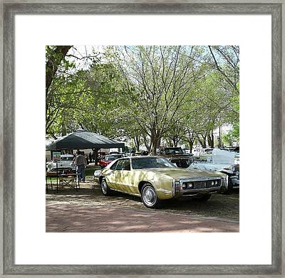 Framed Print featuring the pyrography Car Show Saturday by Jack Pumphrey