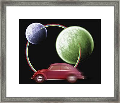 Car Space  Framed Print by Mark Ashkenazi